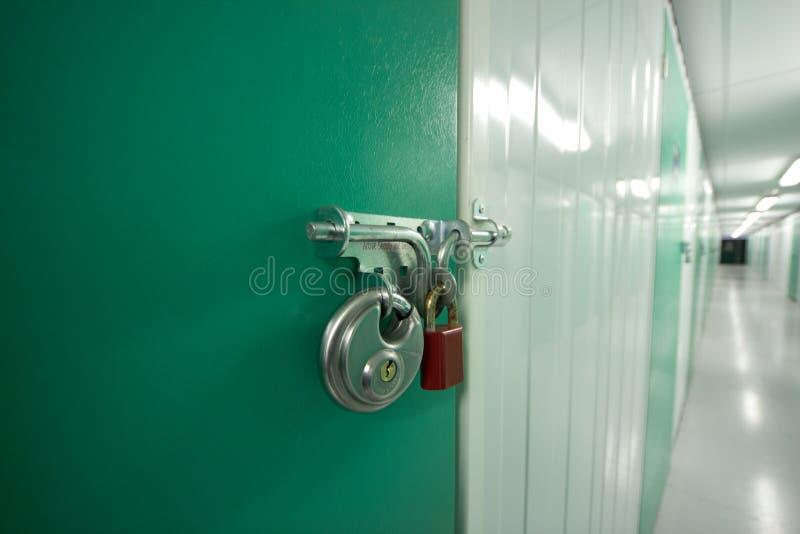 存贮挂锁 库存照片