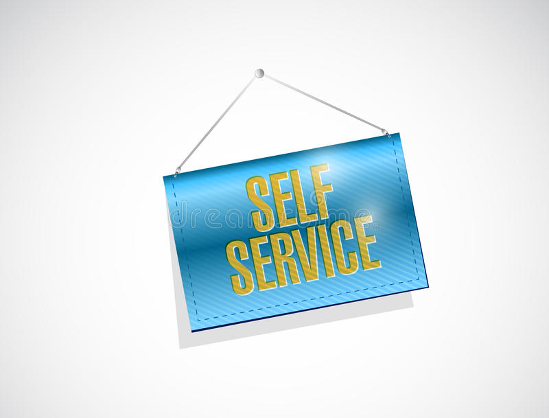 自已服务垂悬的横幅例证 库存例证