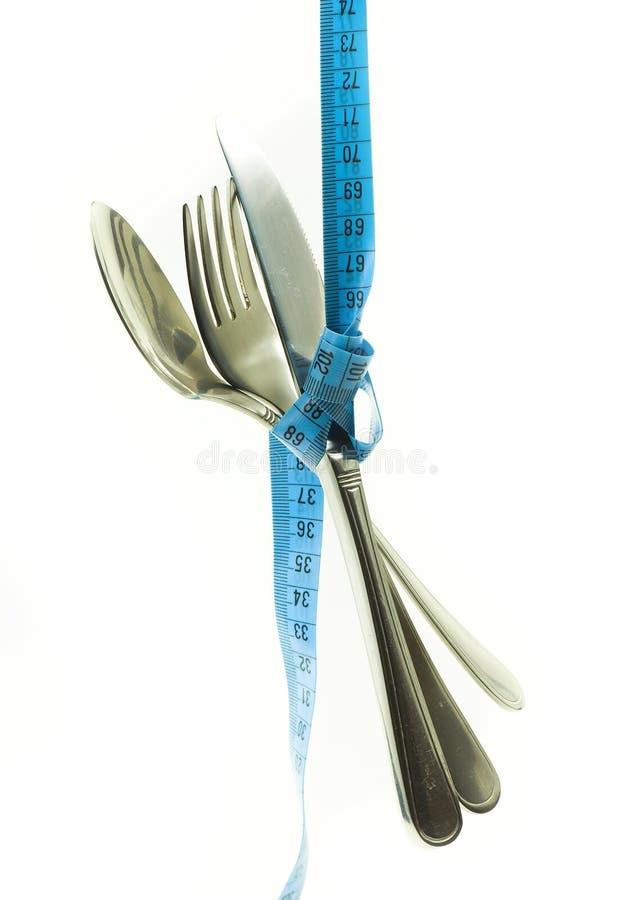 自杀刀叉餐具的限制 库存图片