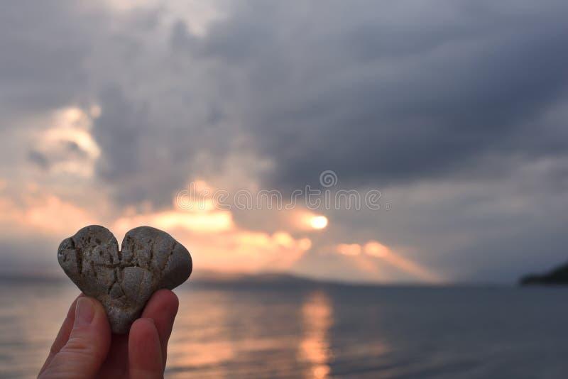 自然一个惊人的杰作-石头是象心脏 ?? 免版税库存照片