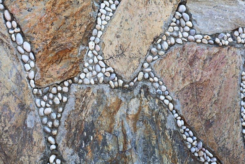 自然五颜六色的石头 能使用作为背景 免版税库存照片