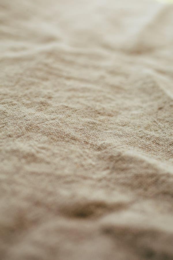 自然亚麻制纹理和背景 织品亚麻制纹理接近的看法设计的 免版税库存图片