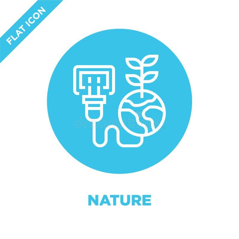 自然从全球性变暖汇集的象传染媒介 稀薄的线自然概述象传染媒介例证 线性标志为使用 皇族释放例证