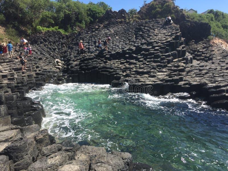 自然做的岩石块复合体 库存图片