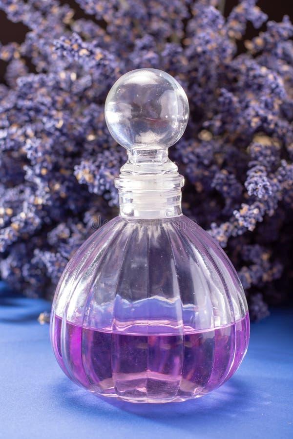 自然健康芳香疗法和家庭芬芳,紫色淡紫色 免版税图库摄影