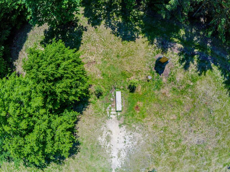 自然公园风景在从上面布尔诺,捷克 免版税库存图片