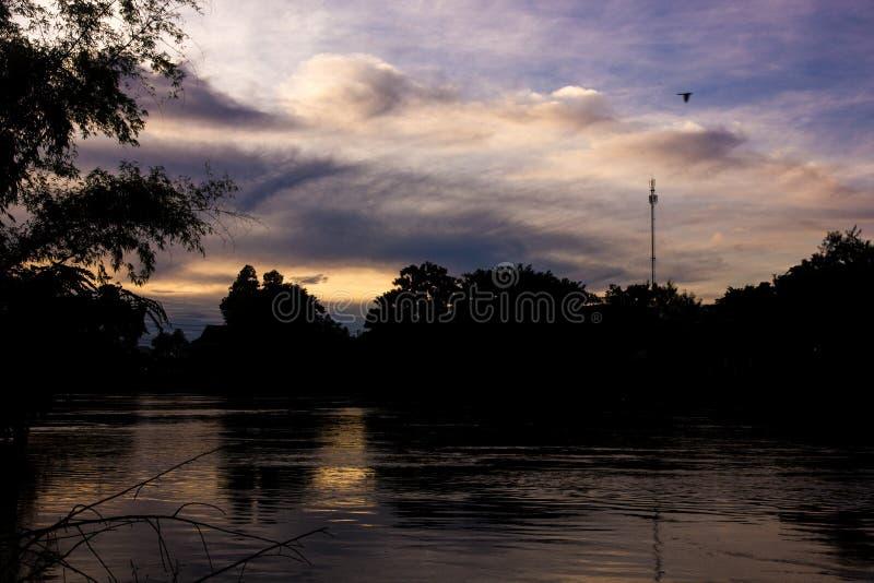 自然剪影在泰国 免版税库存图片