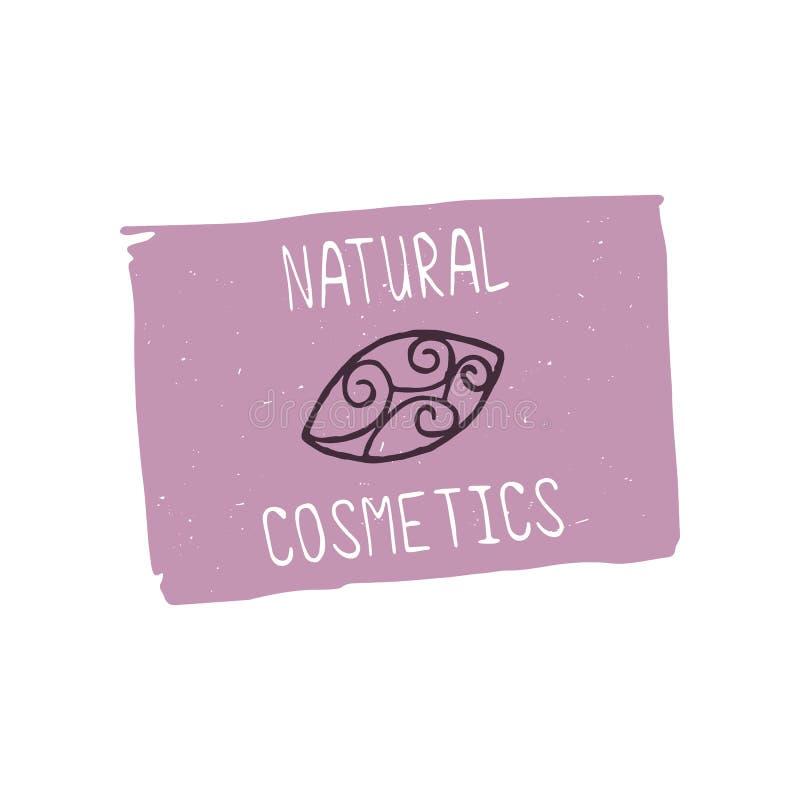 自然化妆用品设计元素 库存例证