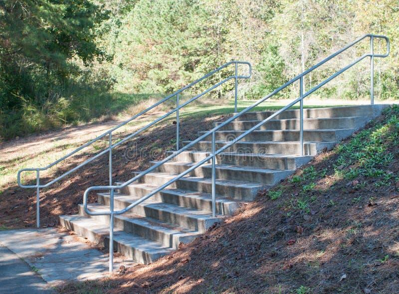 自然台阶公园道路 库存照片