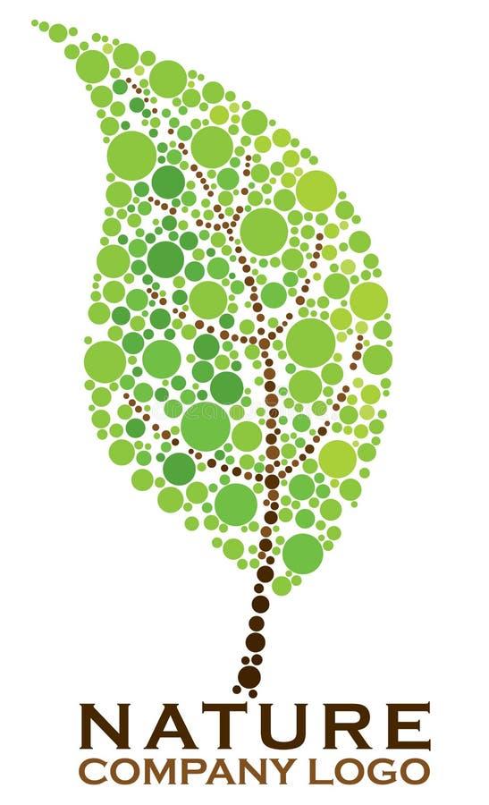 自然叶子商标 向量例证