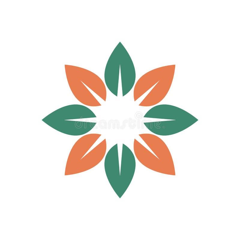 自然叶子标志 向量例证