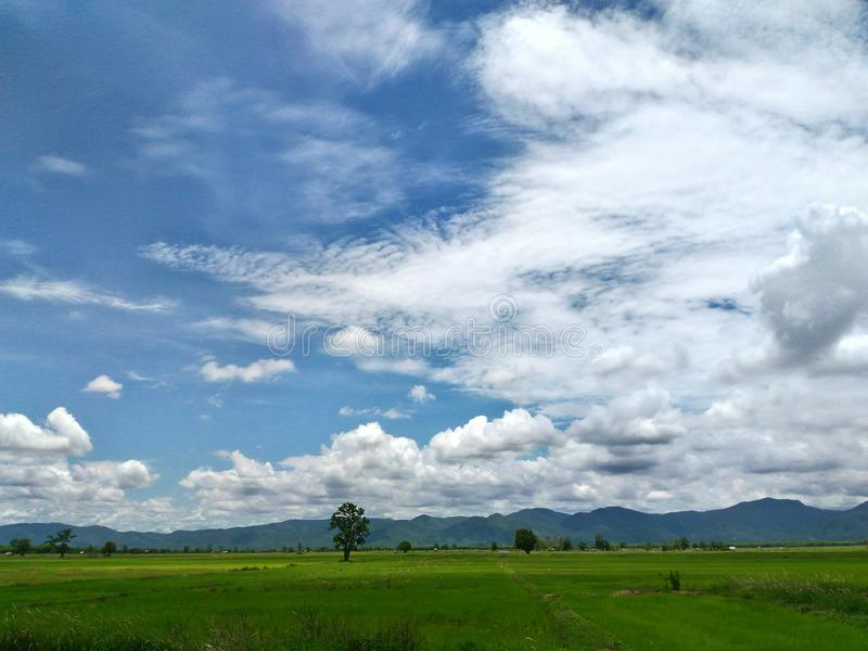 自然和云彩 库存照片