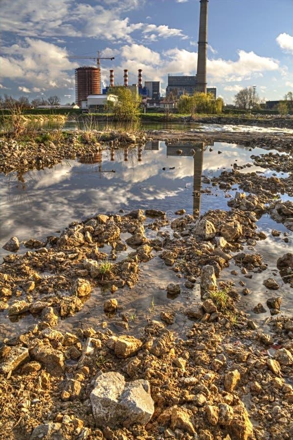 自然和污染 免版税图库摄影