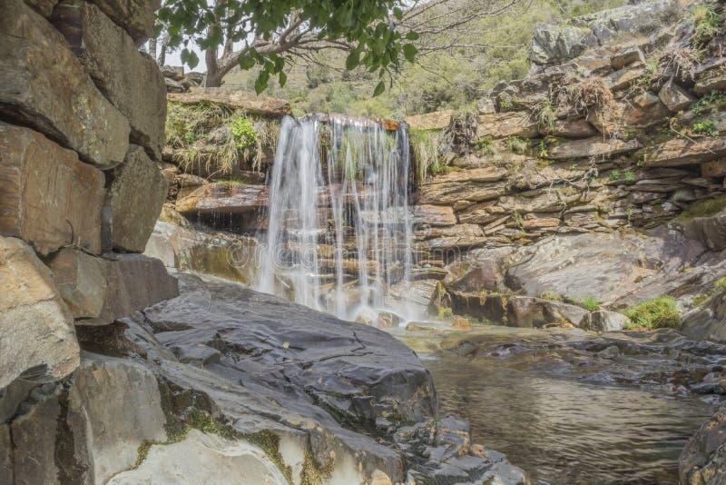 自然和beautifull河瀑布 免版税库存图片