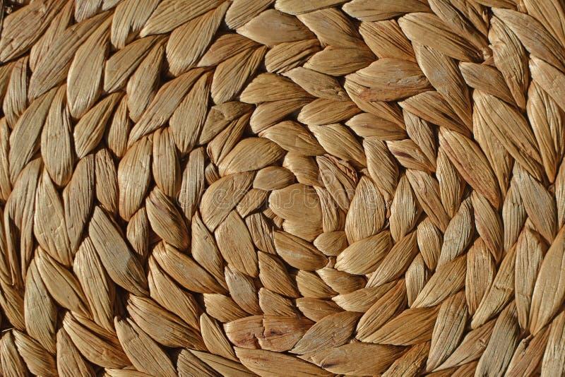 自然圆的柳条筐样式背景 免版税库存图片