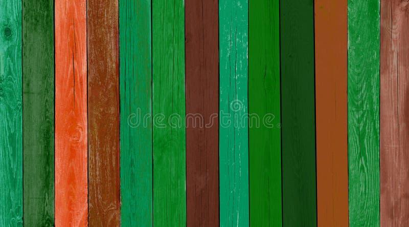 自然土气老木板退了色蓝色背景 免版税库存图片