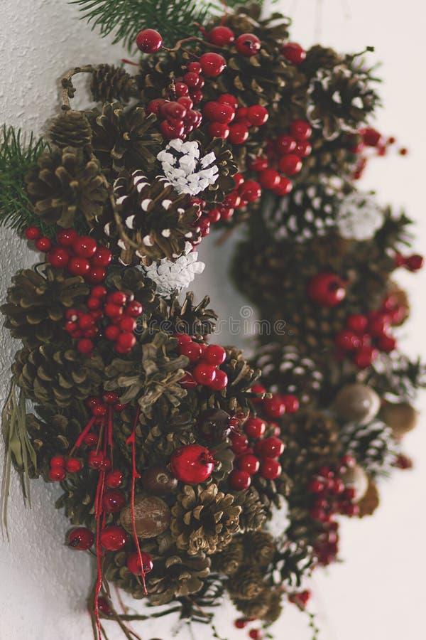 自然圣诞节装饰品 免版税库存照片