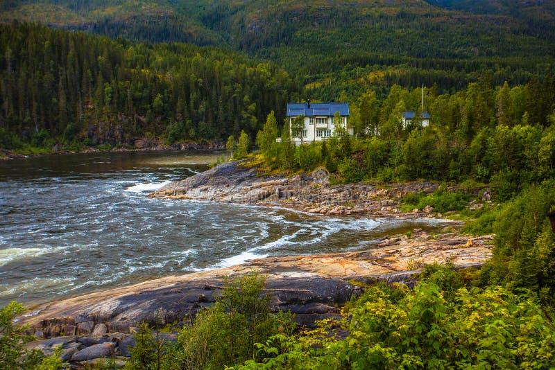自然在北挪威 免版税库存照片
