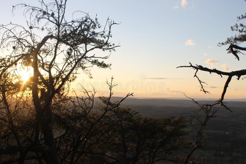 自然在山的秀丽日出 免版税图库摄影