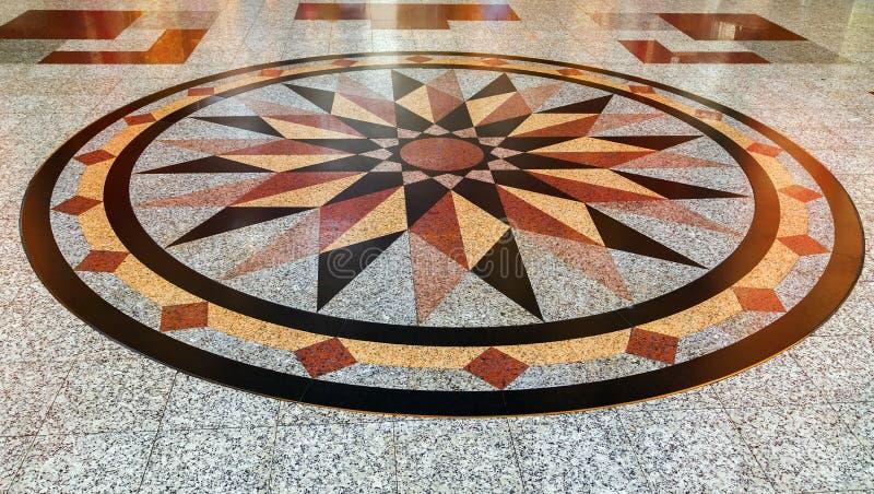 自然大理石装饰纹理锦砖,地板表面gr 免版税库存照片
