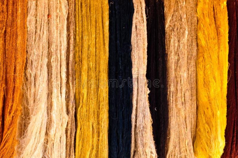 自然子线羊毛 免版税图库摄影