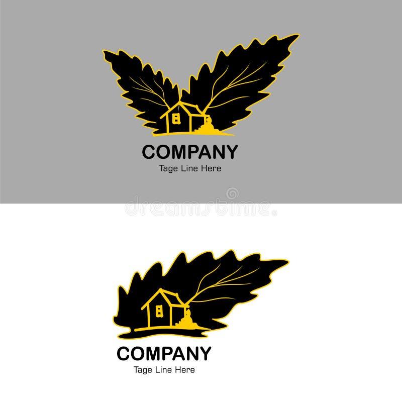 自然居住的时期的商标,简单的商标象居住的时期背景-传染媒介 库存例证