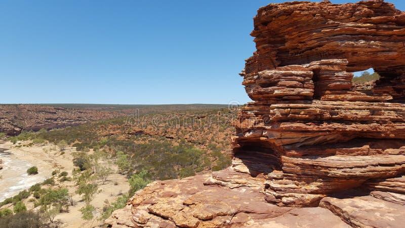 自然岩层在澳大利亚澳洲内地 免版税库存图片