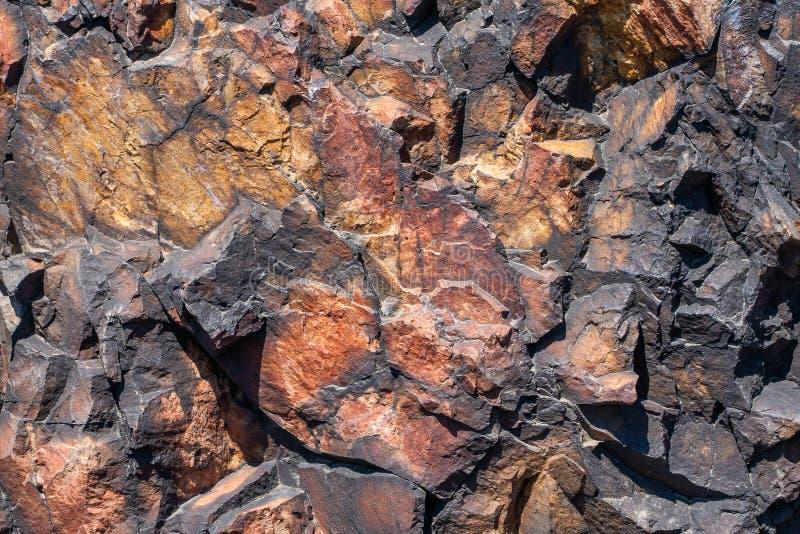 自然岩石关闭的纹理 免版税图库摄影