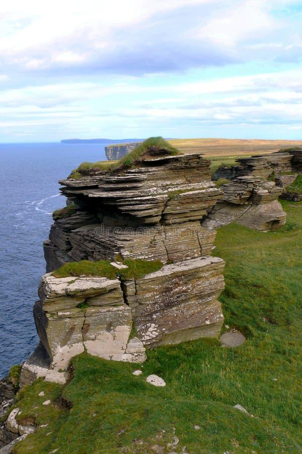 自然岩石栈视图 图库摄影