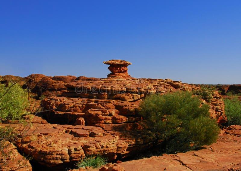 自然岩石雕塑 免版税库存照片