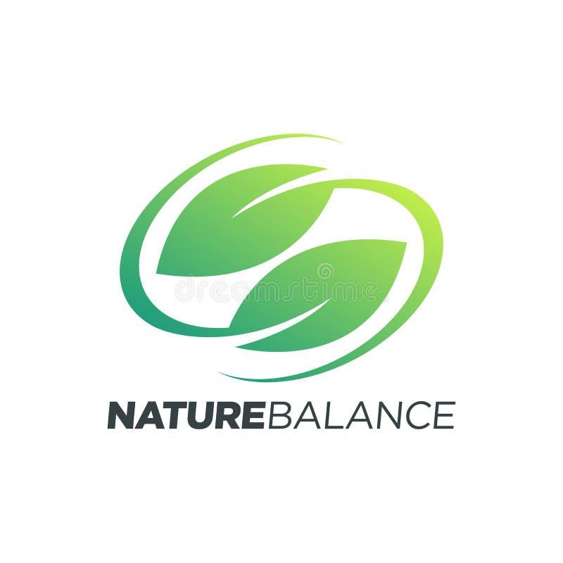 自然平衡叶子标志 库存例证