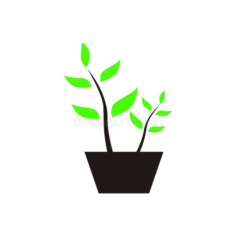 自然或树,植物商标设计 向量例证