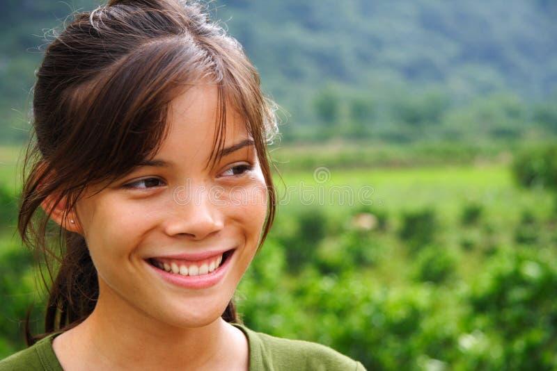 自然户外微笑 免版税库存图片