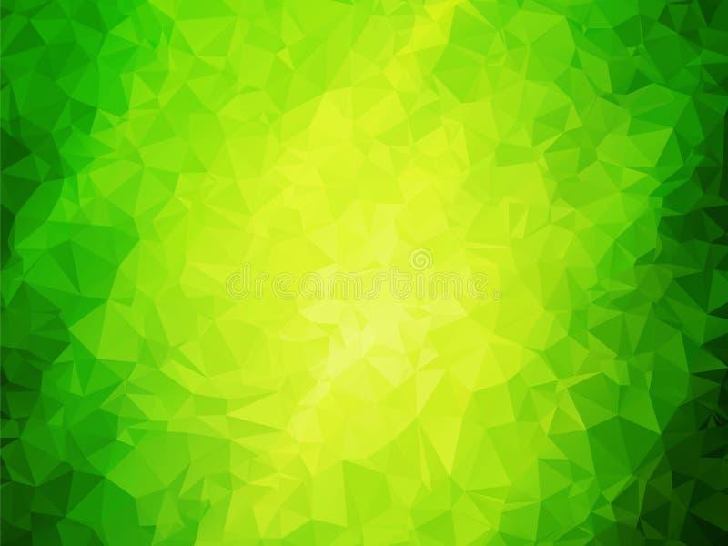 自然抽象绿色背景 库存例证