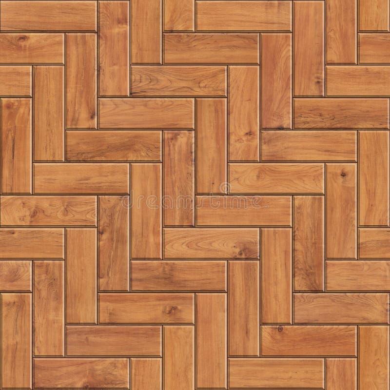 自然木木条地板无缝的纹理  人字形木头的高分辨率样式 皇族释放例证