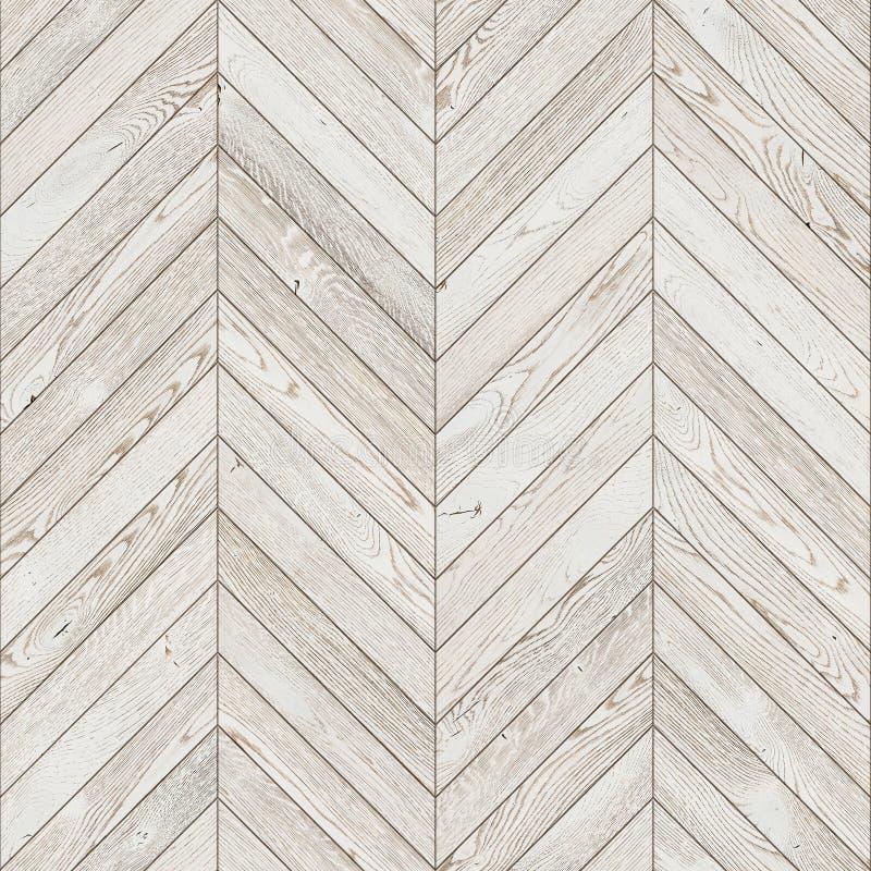 自然木背景人字形,白色难看的东西木条地板地板 免版税库存照片