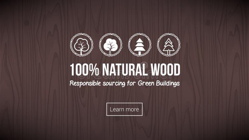 自然木头 皇族释放例证