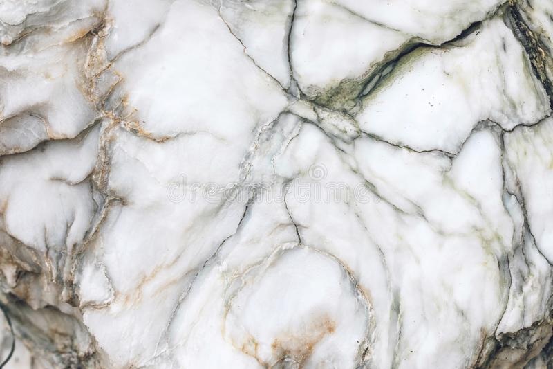 自然未加工的大理石纹理 大理石墙纸背景 设计样式艺术品的白色棕色和灰色石纹理 免版税库存照片