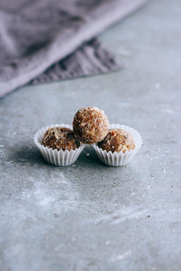 自然未加工的甜点从日期 库存图片