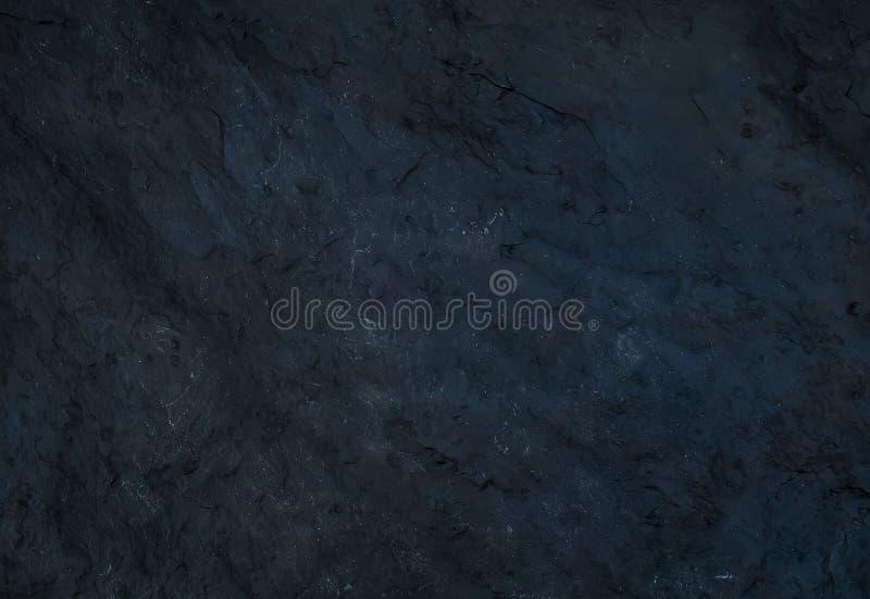 黑自然板岩石头纹理或背景 免版税库存照片