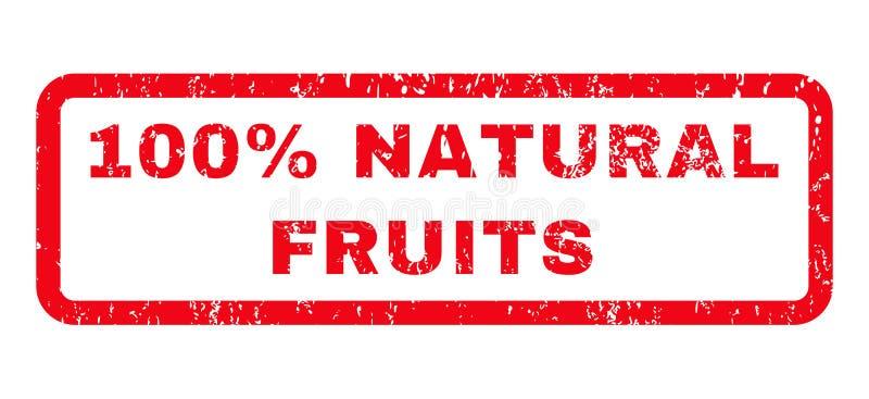 100%自然果子不加考虑表赞同的人 库存例证