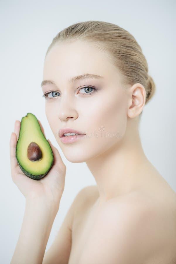 自然果子化妆用品 免版税库存照片