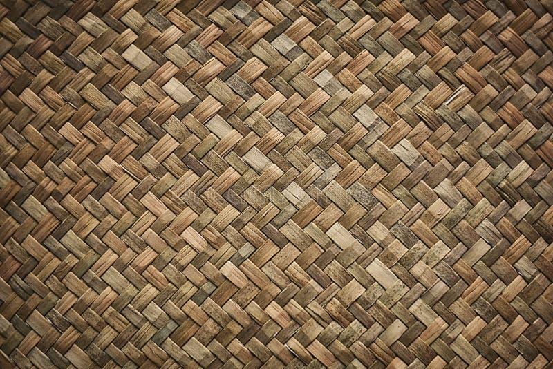 自然柳条结辨的被编织的藤条薹草纹理背景 免版税库存图片