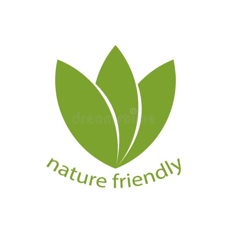 100%自然标签,与曲线,得到美好的商标 传染媒介不适 向量例证