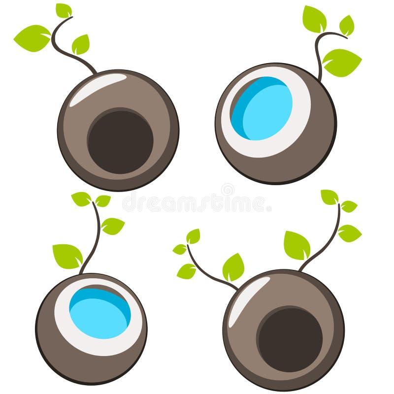 自然树标志例证 库存例证