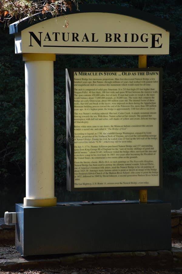 自然桥梁国家公园在弗吉尼亚 免版税库存照片