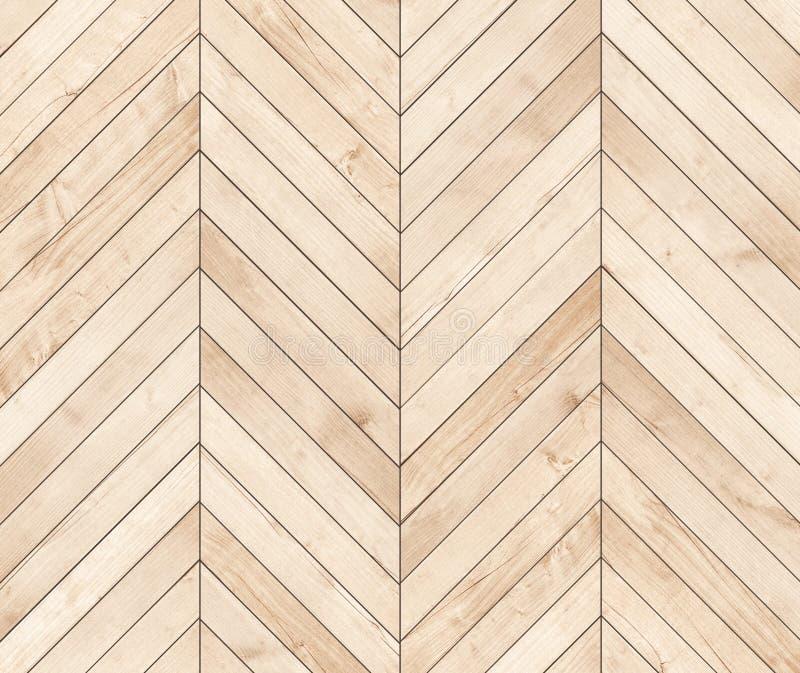 自然棕色木木条地板人字形 木纹理 免版税库存图片