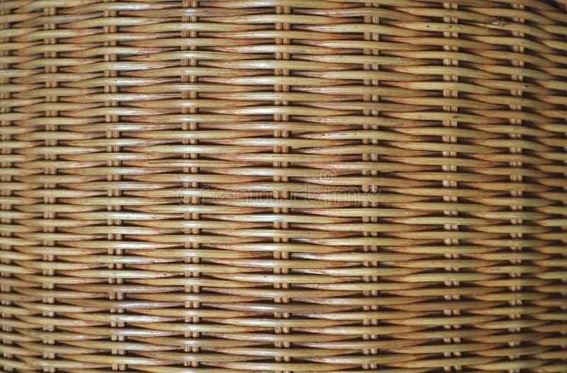 自然棕色藤条家具表面正面图纹理背景的 免版税图库摄影