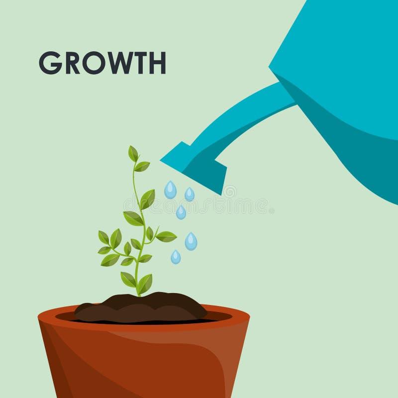 自然植物生长 向量例证