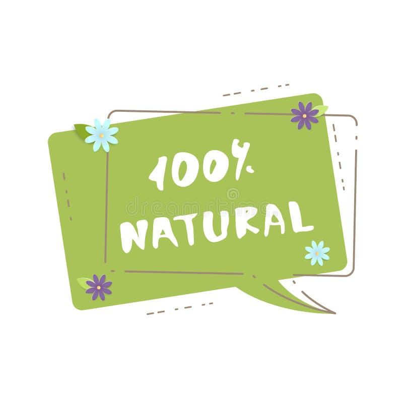 100%自然横幅 也corel凹道例证向量 库存例证
